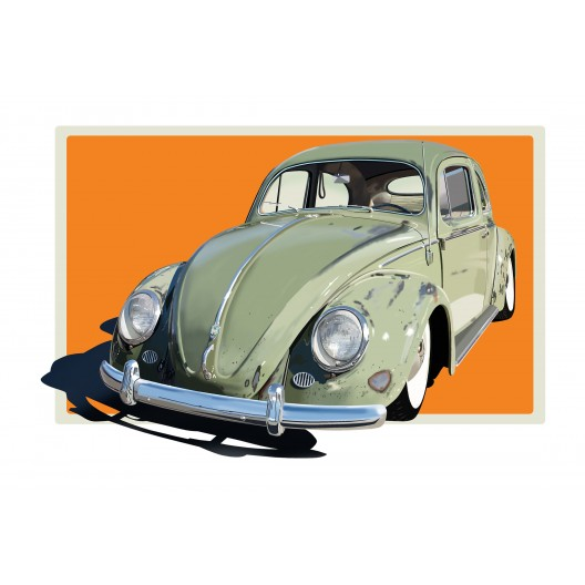 Volkswagen Bug automotive art