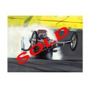 Wheelstanding Top Fuel Dragster original drag racing art