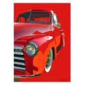 Red 1954 Chevrolet Pickup Automotive Art