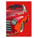 Red 1954 Chevrolet Pickup Automotive Art
