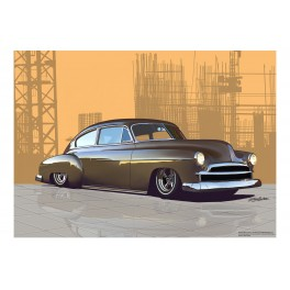 1950 Chevrolet Fleetline custom Automotive Art