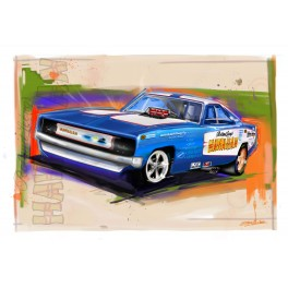 Roland Leong's Hawaiian Funny Car Drag Racing Art