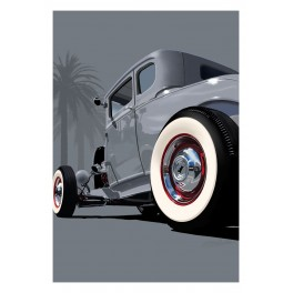1932 Ford Gray Hot Rod Street Rod Art