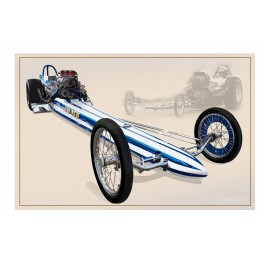 Kansas John Weibe Top Fuel Dragster drag racing art