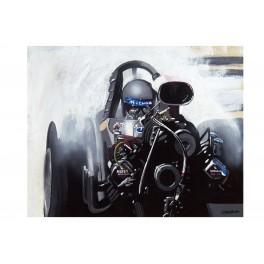 McEwen Top Fuel Dragster drag racing art