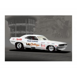 LA Challenger Funny Car, drag racing art