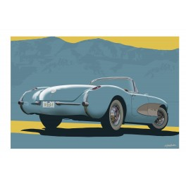 1957 Corvette automotive art