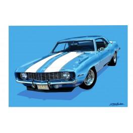 1969 Camaro automotive art