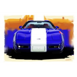 Gran Sport Corvette automotive art