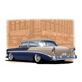56 Chevy Automotive Art