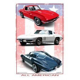 All American Corvette automotive art