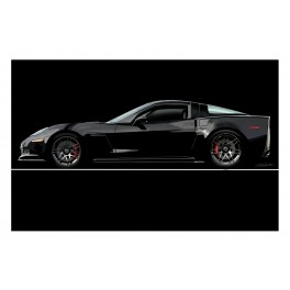 Black Z06 Corvette Automotive Art