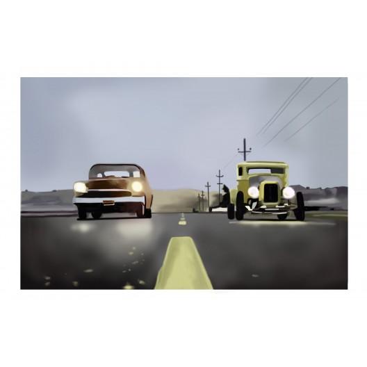 Night Race, automotive art