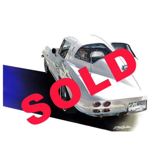 1963 Corvette Split window Original Art Painting