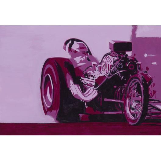 Magenta Top Fuel dragster, drag racing art print