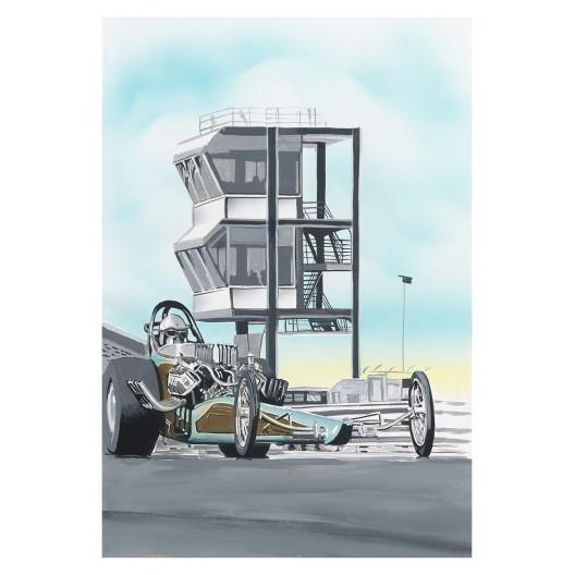 Ontario dragster drag racing art