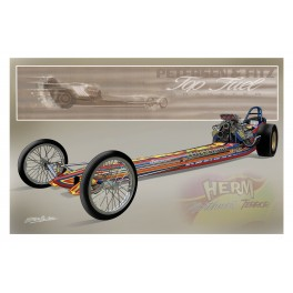 Herm Petersen Top Fuel Dragster Drag Racing Art