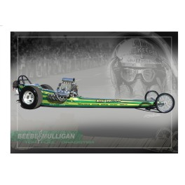 Beebe & Mulligan Top Fuel Dragster Drag Racing Art