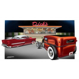 Dick's Drive In Car Show Automotive Art