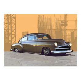 1950 Chevrolet Fleetline custom Automotive Art
