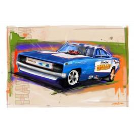 Roland Leong's Hawaiian Funny Car Drag Racing Art