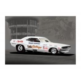 LA Challenger Funny Car, drag racing art