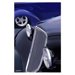 Black and Purple automotive art
