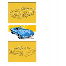 1969 Corvette automotive art