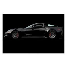 Black Z06 Corvette Original Art