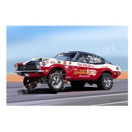 Sam Auxier Maverick Pro Stock drag racing art