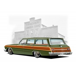 62 Impala 'Woody' Wagon automotive art