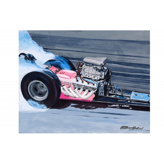 The Old Master drag racing art
