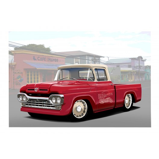 1960 Ford pickup Automotive Art